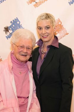 Patricia Ward Kelly and Fan at the Singin' in the Rain anniverasary screening